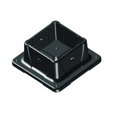 Black Plastic Post Anchor SKU 4080