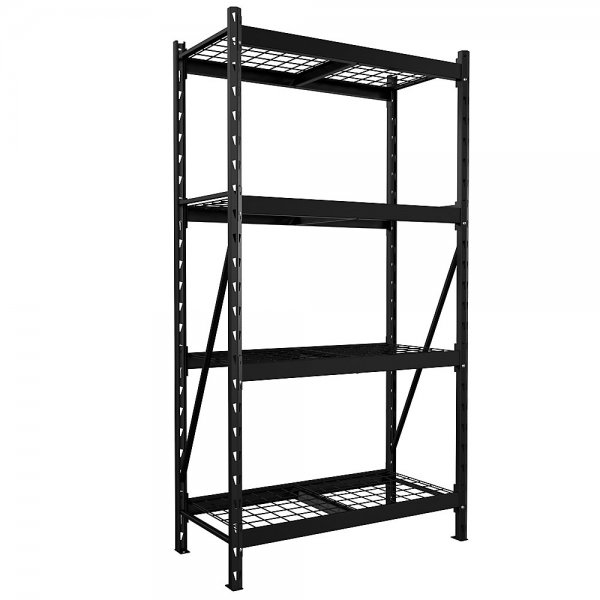 husky 4 shelf metal storage rack starter kit
