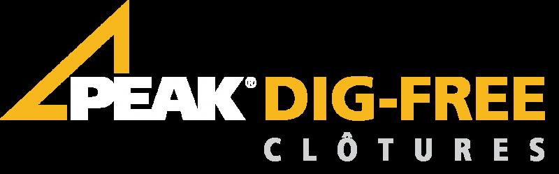 Peak Dig Free Fencing Logo in French