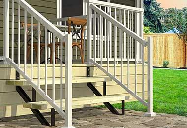 2 steps Steel Stair Risers
